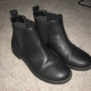 H&M Faux Leather Ankle Boot